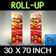 Burger Restaurant Roll Up S-Graphicriver中文最全的素材分享平台