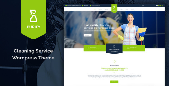 Purify cleaning service wordpress theme by thimpress for Making a wordpress template