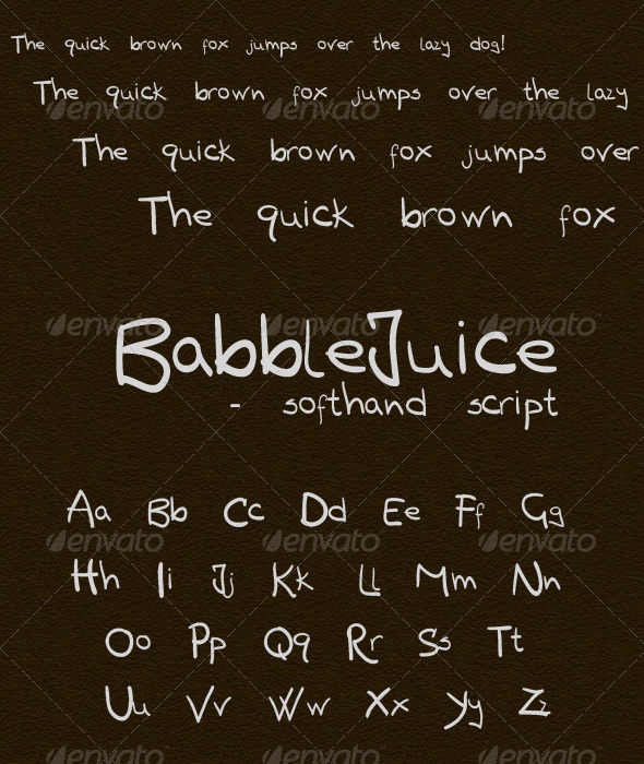 Babblejuice freehand  - Hand-writing Script