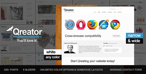 ThemeForest Qreator Corporate HTML5 template 1102046