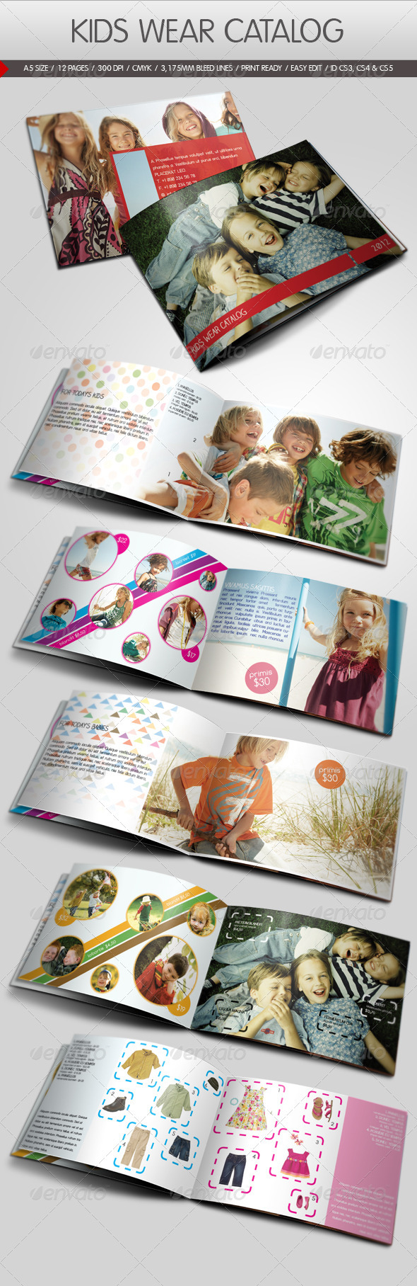 GraphicRiver Kids Wear Catalog 796256