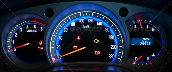 PhotoDune Modern car dashboard closeup 1104963