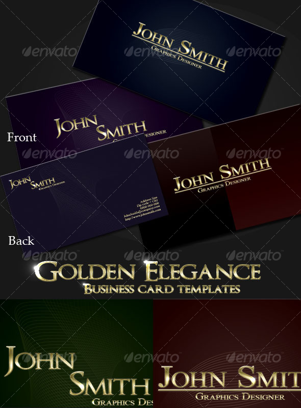 Tru-Gold Elegance Business Card Templates - Corporate Business Cards
