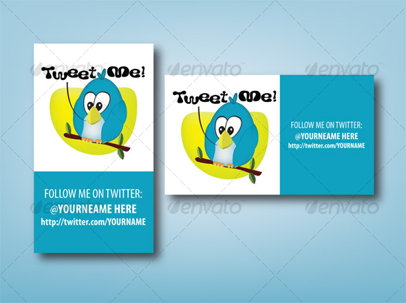 GraphicRiver Tweet ME Twitter ID Card 45391