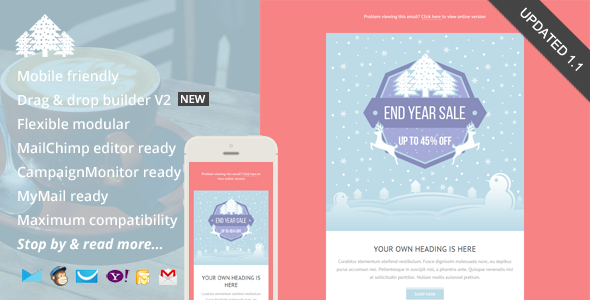 Promo, Holiday Email Template + Builder Access by saputrad ...
