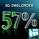 3D numbers preloader with reflection - ActiveDen Item for Sale