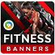 Fitness Banners-Graphicriver中文最全的素材分享平台