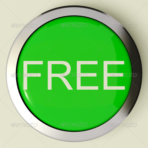 Stock Photo - PhotoDune Free Button As Symbol For Gratuity Or Freebie 1141602