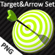 Target And Arrow PNG Icon Set - GraphicRiver Item for Sale