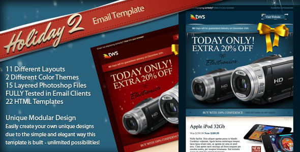 ThemeForest Holiday 2 HTML Email 137275