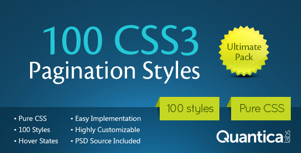 100 CSS3 Pagination Styles - CodeCanyon Item for Sale