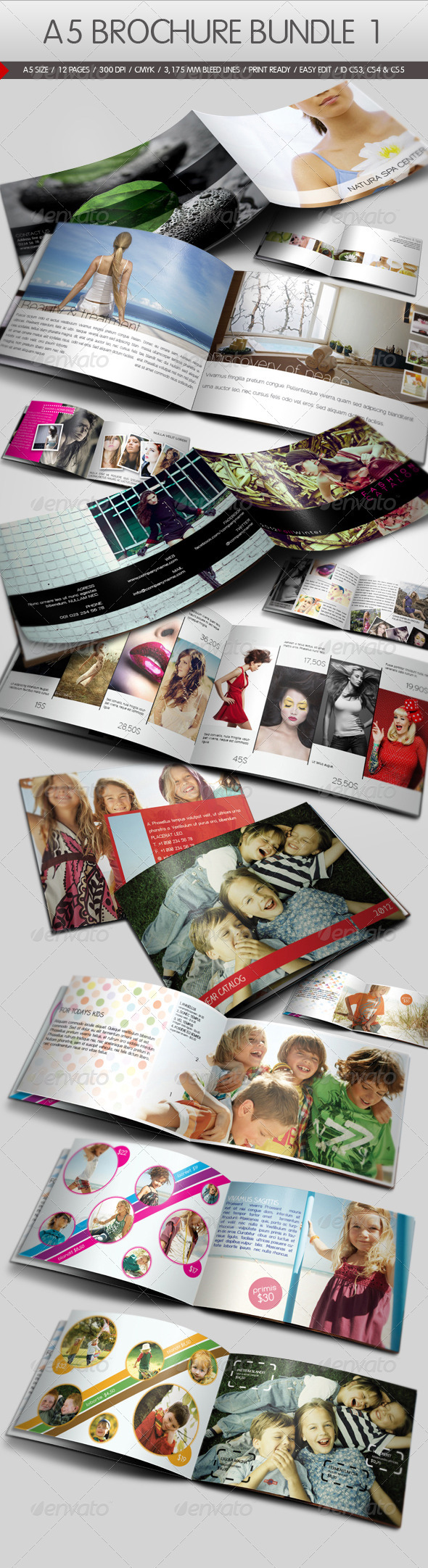 GraphicRiver A5 Brochure Bundle I 1112954