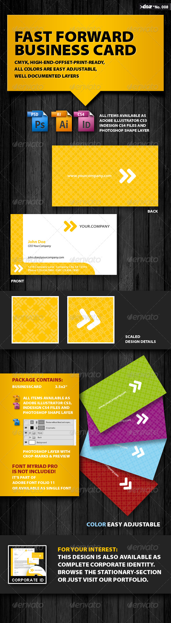 Fast Forward Business Card - Corporate Business Cards