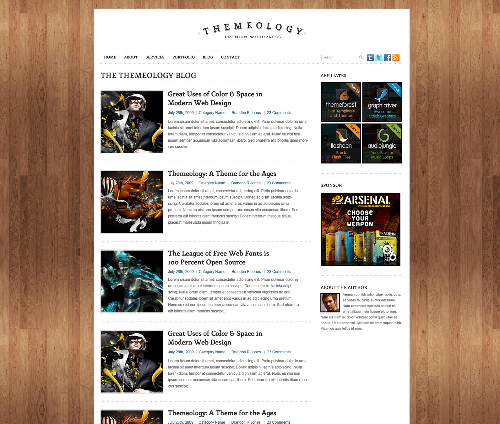 Themeology - Portfolio and Blog Theme