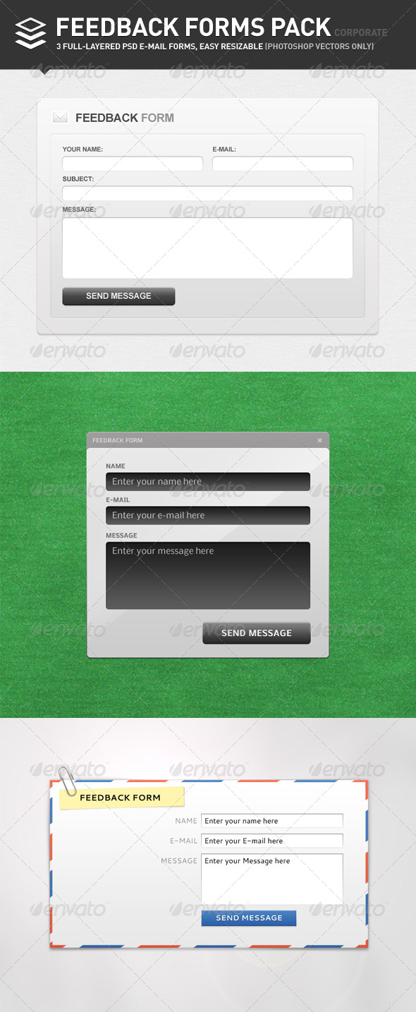 GraphicRiver Feedback Forms Pack Corporate 138026