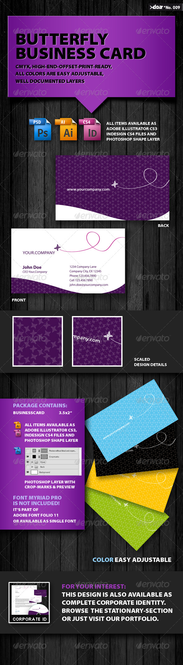Butterfly Business Card - Creative Business Cards
