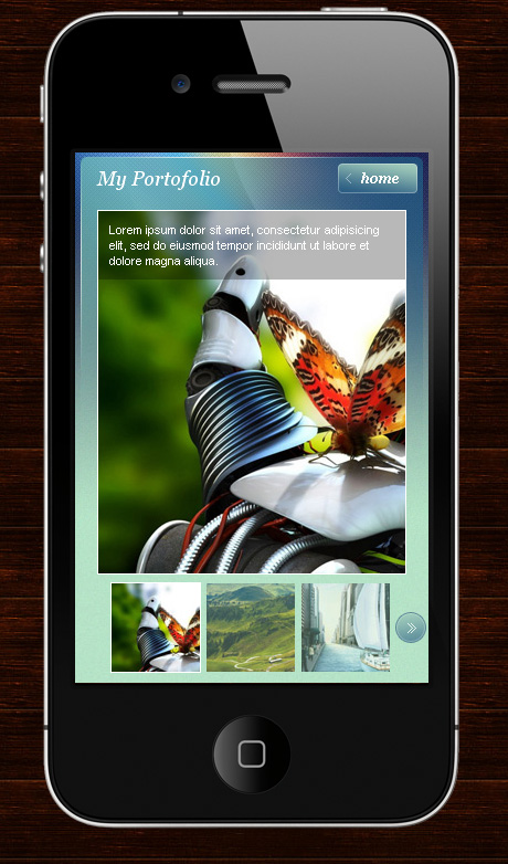 My Mobile Page Wordpress Theme -
