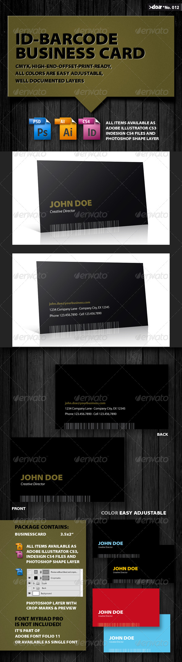 ID-Barcode Business Card - Creative Business Cards