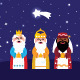 Three wise men bringing gifts to christ - GraphicRiver Item for Sale