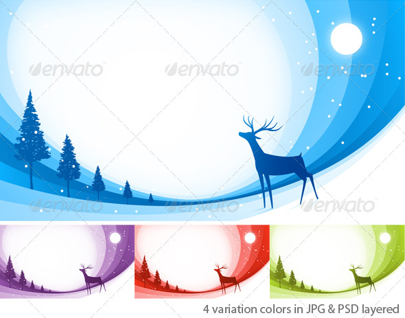 GraphicRiver Snow Reindeer 138602
