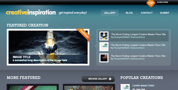 ThemeForest Creative Inspiration 45877