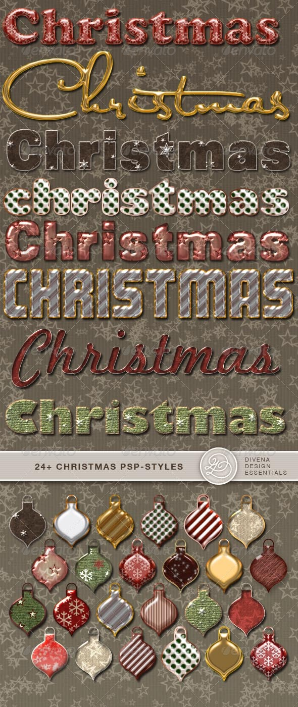 GraphicRiver 24& Christmas Photoshopstyles 139019