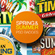 Spring & Summer PSD Badges-Graphicriver中文最全的素材分享平台