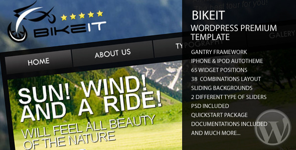 BikeIT - Premium WordPress Template