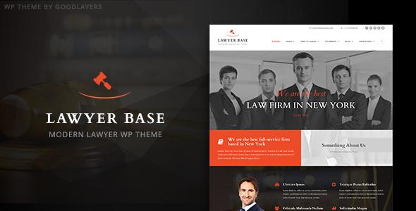 Lawyer Base - Lawyers Attorneys WordPress Theme by GoodLayers ...