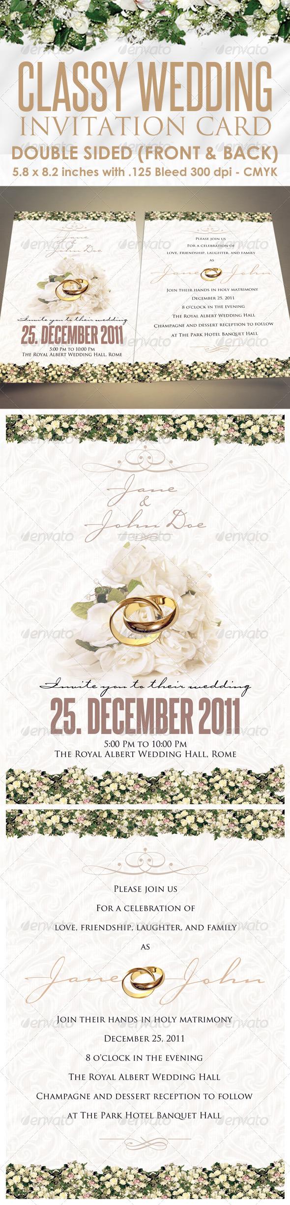 GraphicRiver Classy Wedding Invitations 1130154