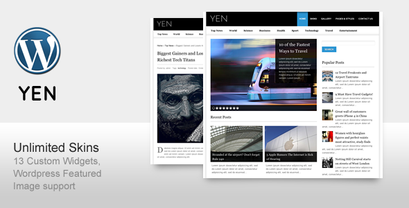 ThemeForest YEN Magazine News and Blog Wordpress Template 138918