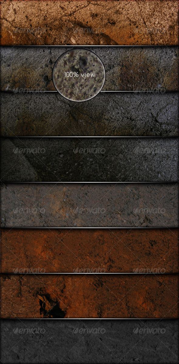 GraphicRiver 8 Grunge Textures with realistic look 139637