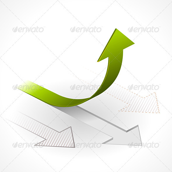 GraphicRiver Onwards & Upwards Arrows 1132889