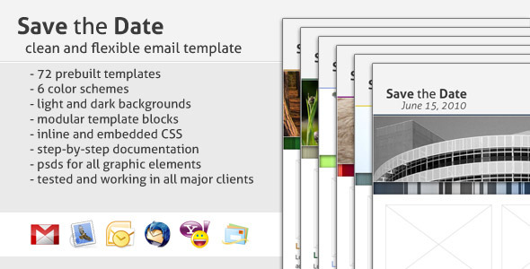ThemeForest Save the Date Email Template 125159