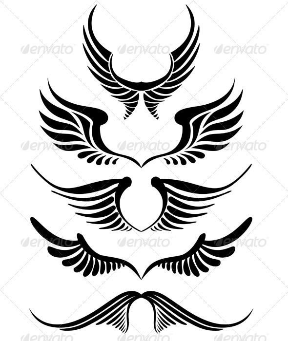 GraphicRiver Vector Wings 1133838