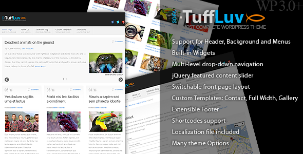 Sofa TuffLuv - WP Premium Theme - Sofa TuffLuv splash screen.