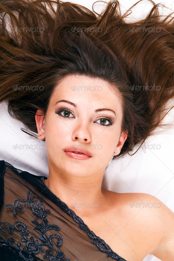 portrait of the young beauty woman 2 - Stock Photo - Images