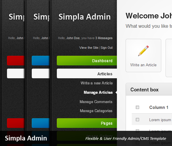 Simpla Admin - Flexible & User Friendly Admin skin - Preview
