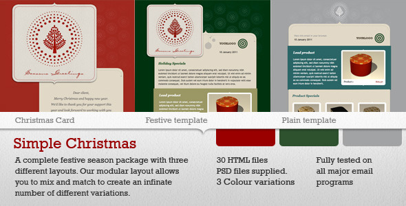 Simple Christmas Email Templates