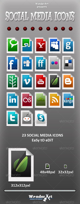 GraphicRiver Social Media Icons 140197