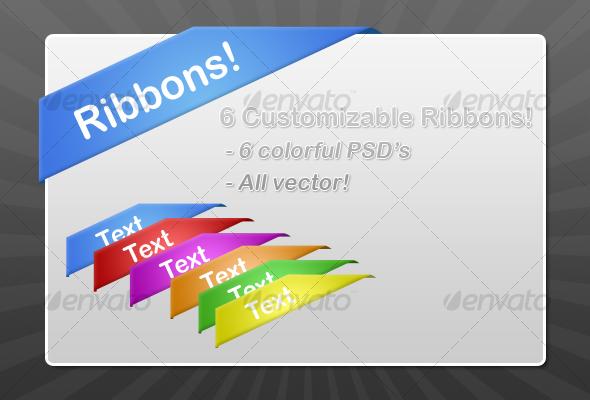 GraphicRiver Corner Ribbons 46328