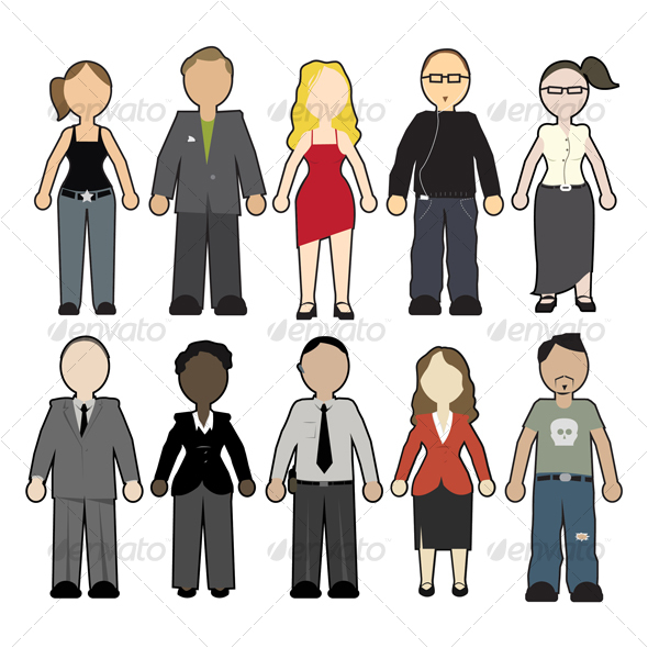 Graphic River People Vectors -  Characters  People 46379