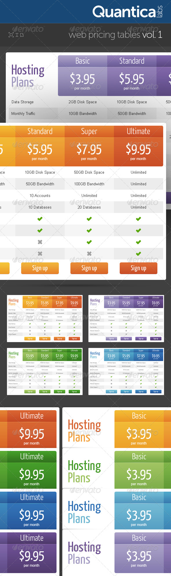 GraphicRiver Web Pricing Tables Grids 140650