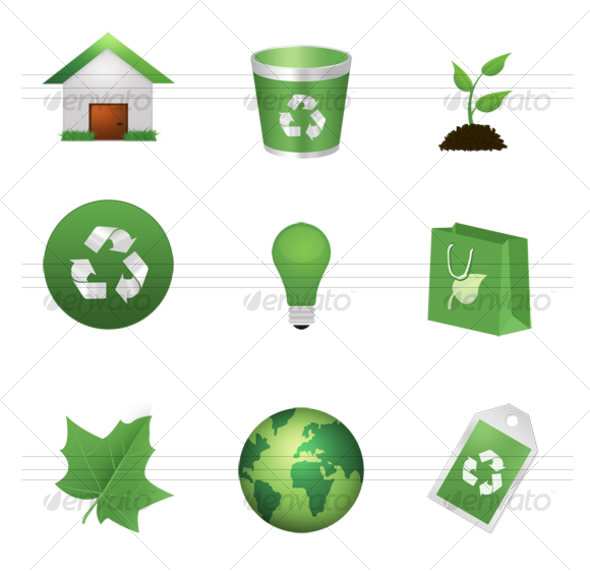 Green Environment Icons - Web Icons