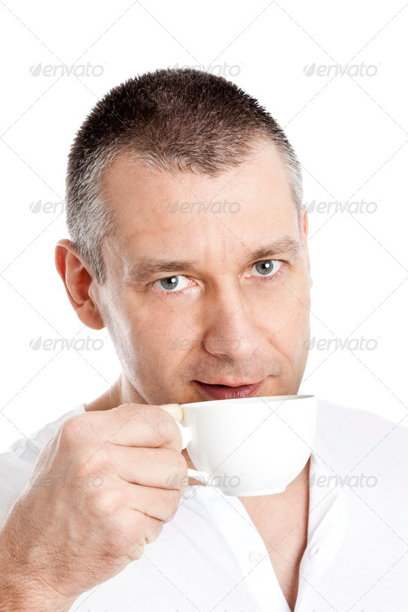 man with coffee - Stock Photo - Images