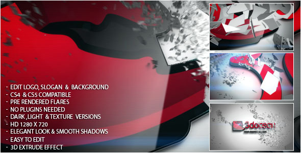 After Effects Project - VideoHive 3D Logo Shred 1083292