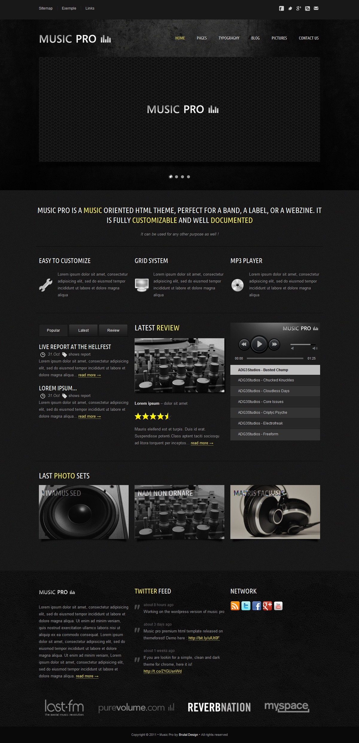 Music Pro - Music Oriented HTML Template