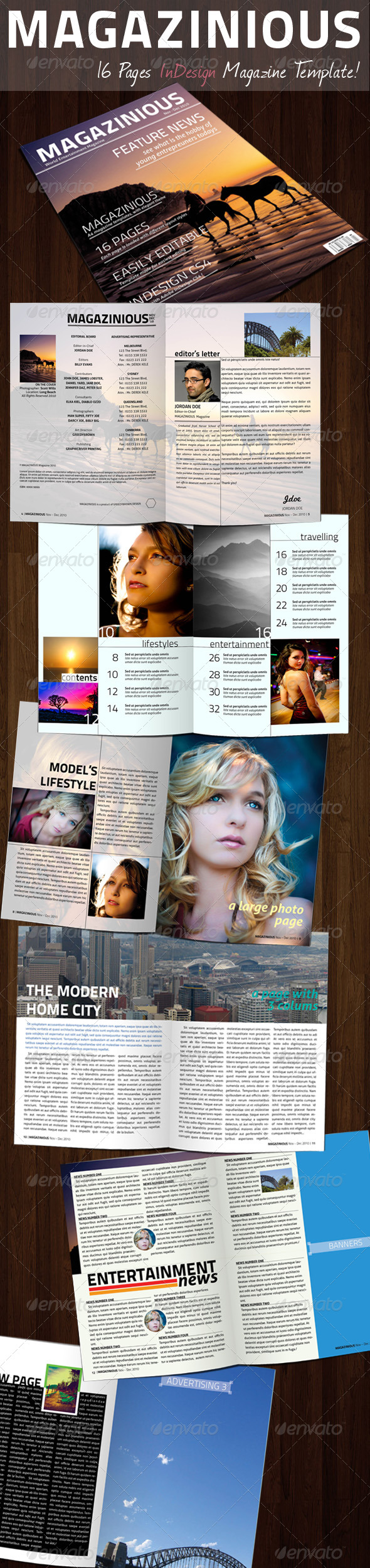 MAGAZINIOUS - InDesign Magazine Template