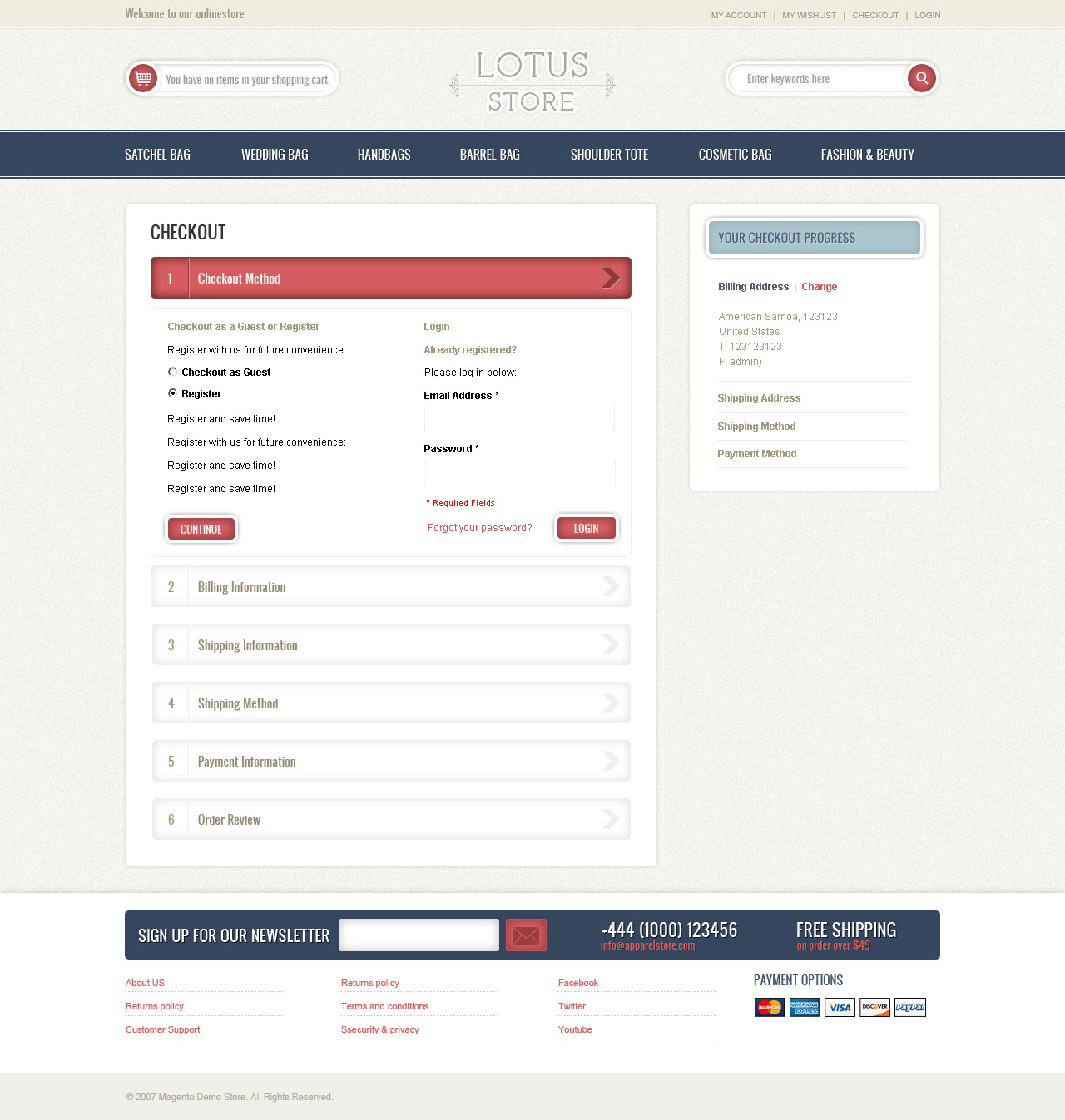 Lotus Store Magento Theme