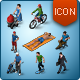 Isometric Map Icons - Peopl-Graphicriver中文最全的素材分享平台